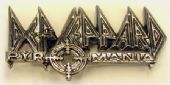 Def Leppard - 'Pyromania' Cast Metal Badge